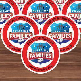 Fulltime Families Circle Cling Stickers
