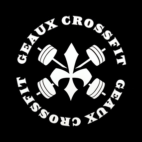 Geaux CrossFit Custom Cut Out Stickers