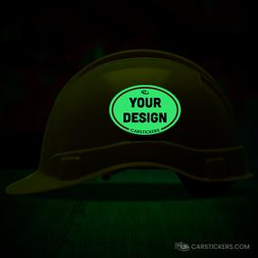 Glow In The Dark Helmet Sticker