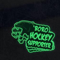 Glow in the Dark Hockey Supporter Sticker