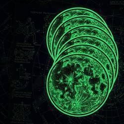 Glow in the Dark Moon Stickers