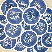 Delicious Happy Hollow Blueberries Custom Circle Stickers