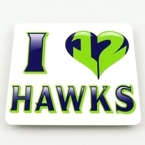 Hawks 12th Man Custom Rectangle Stickers