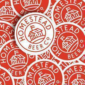 Homestead Beer Co Circle Stickers