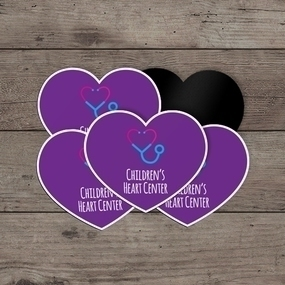 Children's Heart Center Custom Heart Magnet
