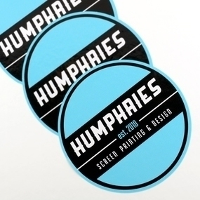 Humphries Screen Printing Custom Circle Stickers