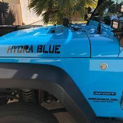 Vinyl Lettering Hydra Blue