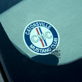 Mustang Club Face Adhesive Sticker