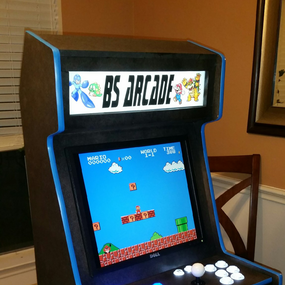 Arcade Marquee Face Adhesive Sticker