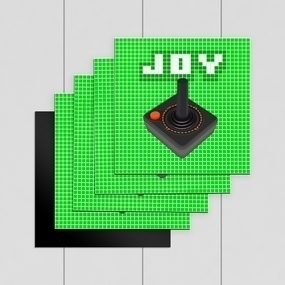 Joystick Custom Square Magnet