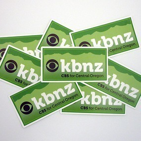 CBS KBNZ Custom Rectangle Stickers