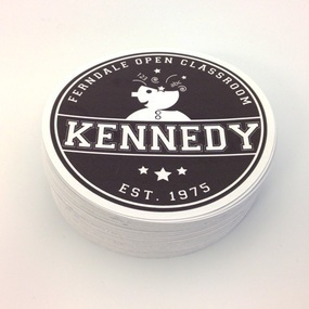 Kennedy Open Classroom Custom Circle Stickers