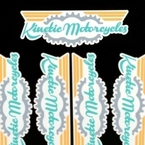 Kinetic Motorcycles Custom Die Cut Stickers