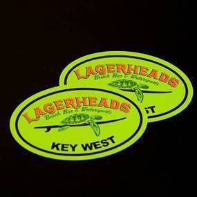 Lagerheads Oval Sticker