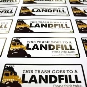Waste Minimization Forum Custom Rectangle Stickers
