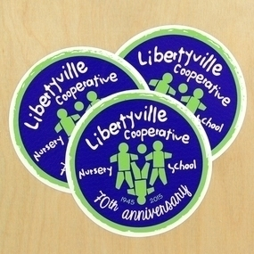 Libertyville Co-Op Nursery School Custom Circle Stickers