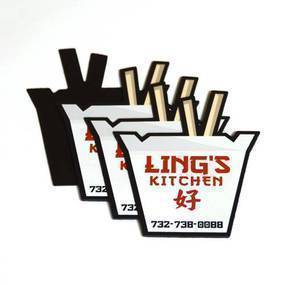 Ling's Kitchen Custom Die Cut Magnet