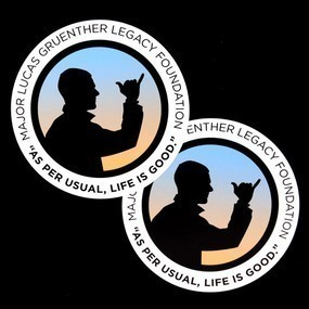 Major Lucas Gruenther Legacy Foundation Custom Circle Stickers