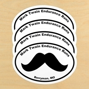 Mark Twain Endurance Runs Custom Oval Stickers