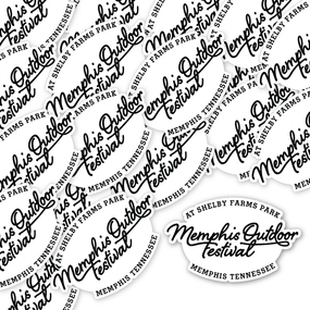 Memphis Outdoor Festival Custom Die Cut Stickers