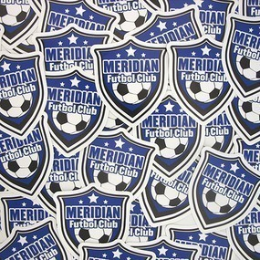 Meridian Football Club Custom Die Cut Stickers