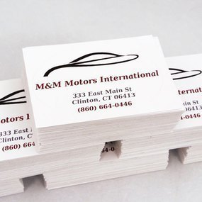 M & M Motors International Custom Rectangle Stickers