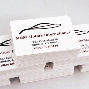 M & M Motors International Custom Rectangle Stickers
