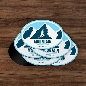Mountain Marathon Custom Oval Magnet