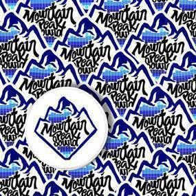 Mountain Peak Sound Custom Die Cut Stickers