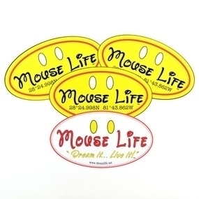 Mouse Life Custom Oval Stickers