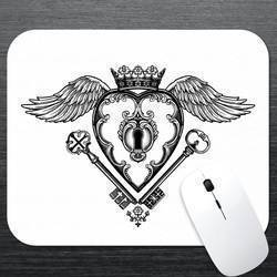 Locked Heart Mouse Pad