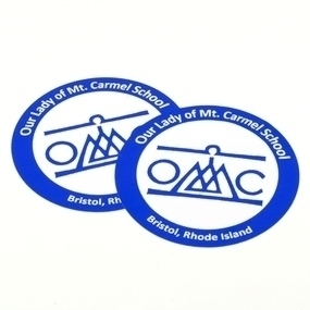 Our Lady of Mt. Carmel School Custom Circle Stickers