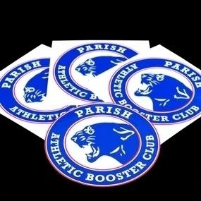 Parish Athletic Booster Club Custom Circle Stickers