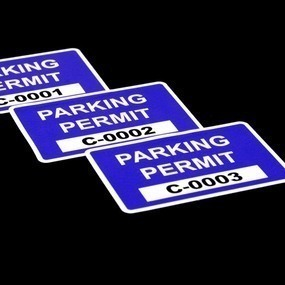 Custom Rectangle Parking Permits