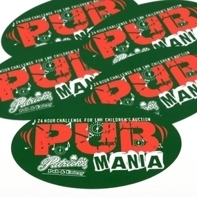 Patrick's Pub Custom Oval Stickers