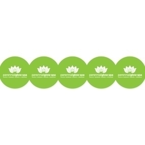 Perennial Glow Spa Custom Circle Stickers