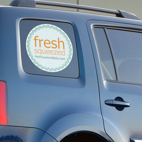 Fresh Squeezed Perforated Film Window Sticker