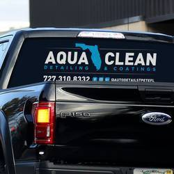 Aqua Clean Perforated Film Window Sticker