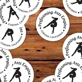 Performing Arts Empire Custom Circle Stickers