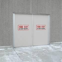 Fire Exit Door Sticker