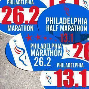 Philadelphia Marathon Stickers & Magnets
