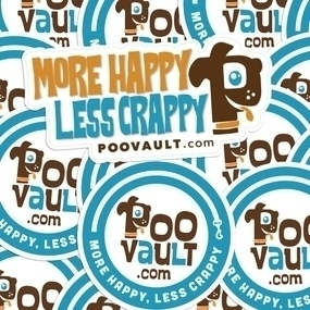 Poo Vault Die Cut Stickers