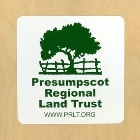 Presumpscot Regional Land Trust Custom Rounded Rectangle Stickers