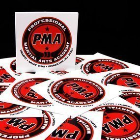 Professional Martial Arts Academy Custom Circle Stickers
