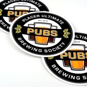 Placer Ultimate Brewing Society Custom Circle Stickers