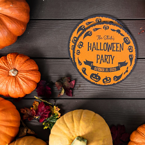 Halloween Party Circle Paper Coasters
