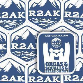 Race To Alaska Custom Rounded Rectangle Stickers