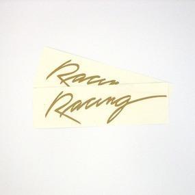 Racing Custom Vinyl Lettering