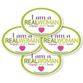 Real Woman Magazine Custom Oval Stickers