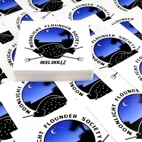 Moonlight Flounder Society Custom Rectangle Stickers